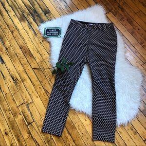 DVF black red white patterned cigarette pants, 4